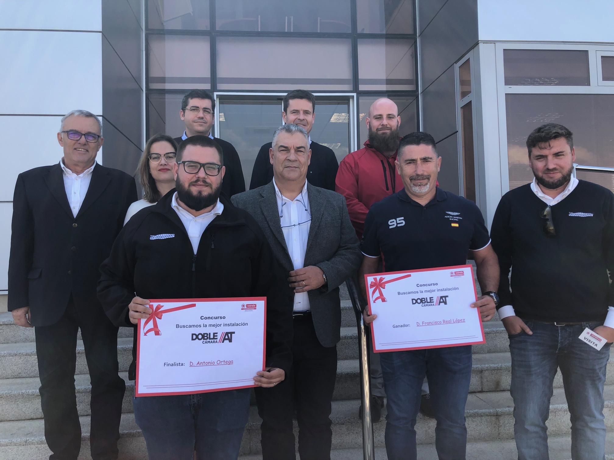 SOTRAFA entrega los premios CONCURSO «Buscamos la mejor instalación Doble Cámara»
